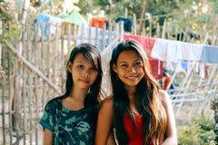 愉快的年轻亚洲人友谊 免版税库存图片