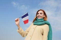 愉快的年轻人旅行妇女 免版税图库摄影
