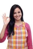 愉快的年轻印地安妇女 免版税图库摄影