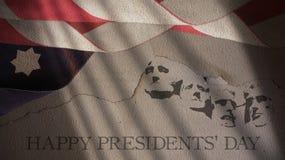 愉快的总统天 美国旗子 免版税库存图片