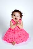 愉快的婴孩拍的手 图库摄影