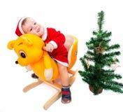 从愉快的婴孩的圣诞快乐 库存图片