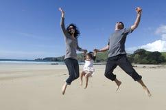 愉快的年轻家庭 免版税库存图片