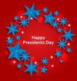 愉快的总统的Day星背景 库存图片