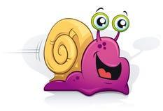 愉快的紫色蜗牛 免版税库存照片