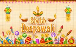 愉快的diwali背景 免版税库存图片