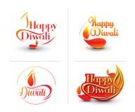 愉快的diwali背景 库存例证