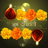 愉快的diwali diya设计 库存图片