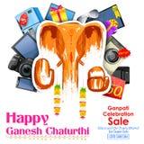 愉快的Ganesh Chaturthi销售提议 库存照片