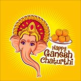 愉快的ganesh chaturthi阁下ganesha传染媒介例证 图库摄影