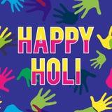 愉快的Holi春节 假日颜色的五颜六色的背景 抽象模式 图库摄影