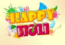 愉快的Holi,颜色节日  免版税库存照片