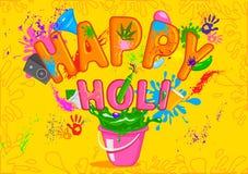 愉快的Holi,颜色节日  免版税图库摄影