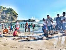 愉快的Krakal海滩 图库摄影