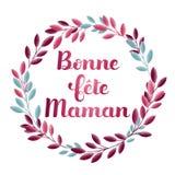 愉快的Mother's天用法语:Bonne fête Maman 库存图片