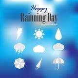 愉快的rainning的天 图库摄影