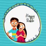 愉快的Rakhi庆祝的贺卡 图库摄影