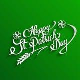 愉快的St Patricks天字法贺卡 库存照片