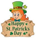愉快的St Patricks天题目1 库存照片