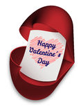 愉快的ValentineÂ的天-贺卡 库存图片
