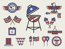 愉快第4 7月美国人美国独立日象标志 向量例证