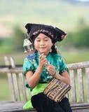愉快逗人喜爱的亚裔儿童的女孩 库存照片