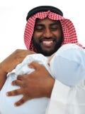 愉快阿拉伯的父亲 免版税图库摄影