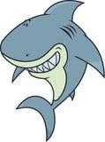 愉快,傻的看起来的大白鲨鱼 库存照片