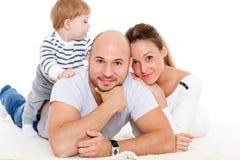 愉快婴孩的系列一点 免版税图库摄影