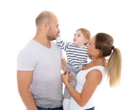 愉快婴孩的系列 免版税库存照片