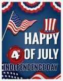 愉快7月第4美国独立日 皇族释放例证
