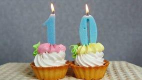 愉快10生日,庆祝概念 股票视频