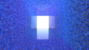 任意信件大数据概念隧道  库存照片
