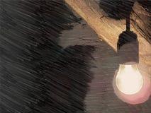 意味想法的电灯泡 库存图片