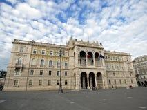 意大利、的里雅斯特、大广场和专区 库存图片