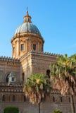 意大利。西西里岛海岛。巴勒莫市。大教堂 免版税库存图片