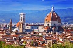 意大利。 佛罗伦萨。 大教堂圣塔玛丽亚del Fiore 库存图片