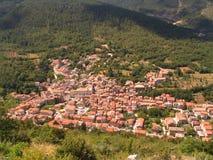 意大利中世纪村庄 库存照片