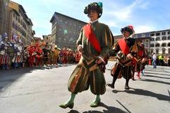 意大利中世纪游行 库存图片