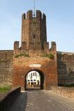意大利中世纪montagnana墙壁 库存照片