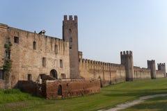 意大利中世纪montagnana veneto墙壁 免版税库存照片