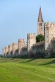 意大利中世纪montagnana veneto墙壁 库存照片