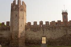 意大利中世纪montagnana veneto墙壁 免版税库存图片