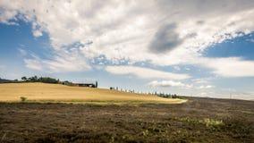 意大利乡下在Val d ` Orcia 免版税库存照片