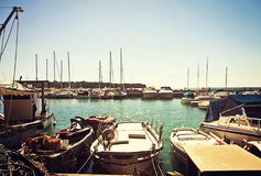 意大利亚得里亚海小港口 免版税图库摄影