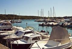 意大利亚得里亚海小港口 免版税库存图片