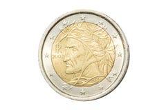 意大利人两欧元硬币 免版税图库摄影