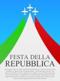 意大利人国庆节海报 免版税库存照片