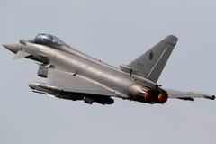 意大利人空军队台风战斗机战斗机 库存图片