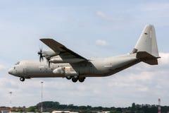 意大利人空军队Aeronautica Militare Italiana洛克西德・马丁C-130J-30赫拉克勒斯军用货物航空器MM62194 免版税库存照片